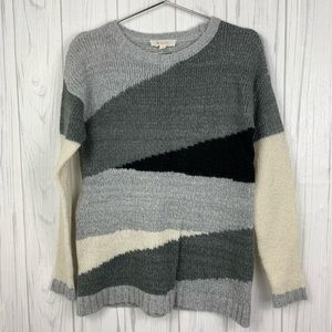 TWO BY VINCE CAMUTO COLOR-BLOCK SWEATER XS